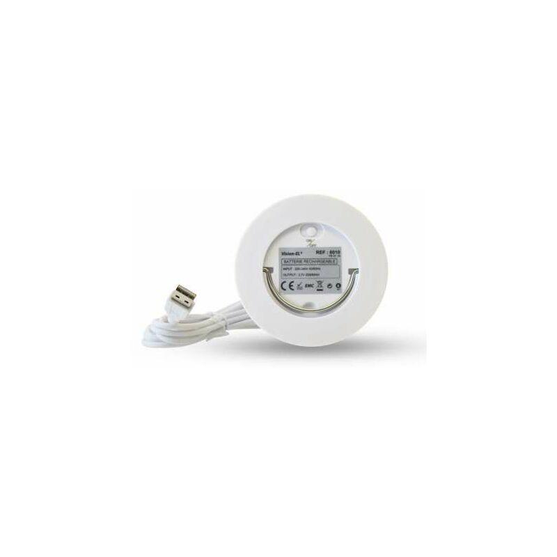 Vision-el - Batterie rechargeable 3,7V sur prise USB gamme lounge