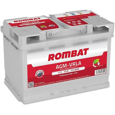 Batterie Rombat AGM Start And Stop 12V 70ah 720A