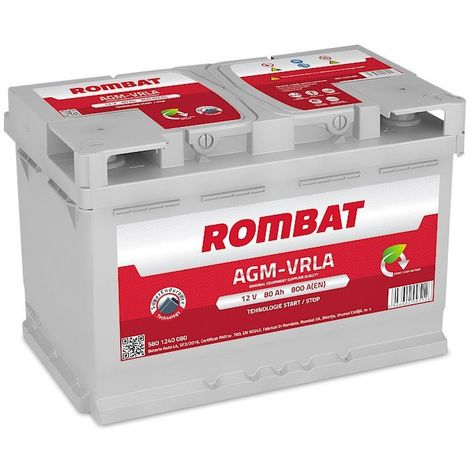 Batterie Rombat AGM Start And Stop 12V 80ah 800A