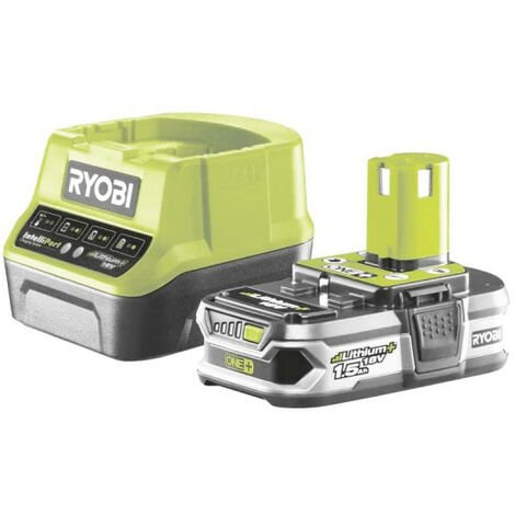 Batterie RYOBI 18V Lithium-ion OnePlus 1,5 Ah - 1 chargeur rapide RC18120-115G
