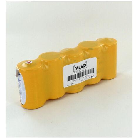 Batterie Saft 6V 4Ah 5 VTD Cote cote