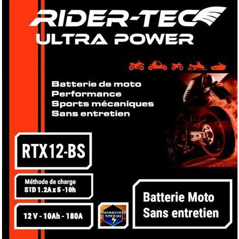 Batterie Sans Entretien 12v 12ah Rider-tec