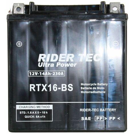 Batterie Sans Entretien 12v 16ah Rider-tec