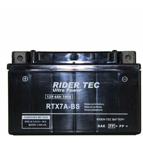 Batterie Sans Entretien 12v 6ah Rider-tec