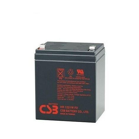 Batterie scellée Sai 12v 5 Ah pour onduleur, CBS HR1221W, sans entretien, résistant à plus de 260 cycles de chargement et de déchargement