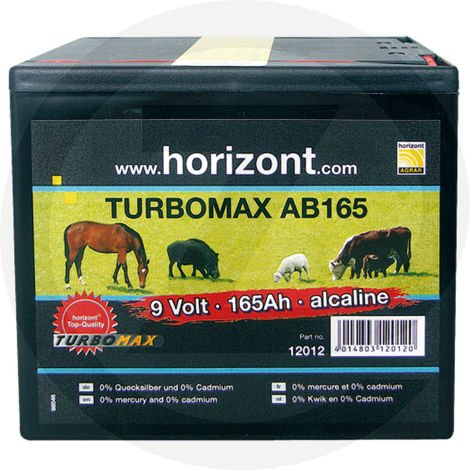 Batterie sèche Turbomax AB 9V 160Ah - Horizont