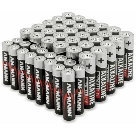 Batterie-Set, ANSMANN, Alkaline, 30x AA, 16x AAA, 46 Stück