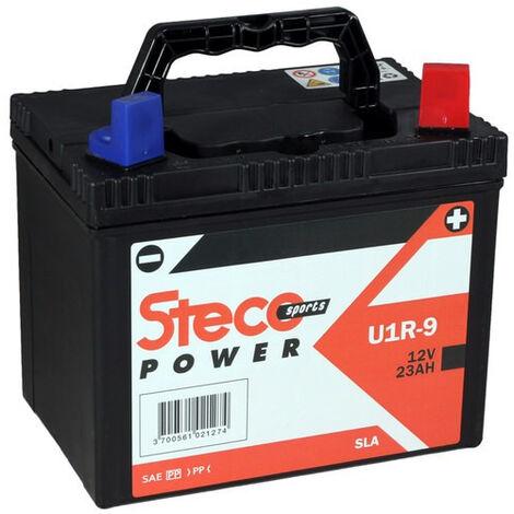 Batterie SLA 12V 23Ah 250A Polarité gauche 195x130x183 Gamme POWERSPORT STECO Motoculture - U1R9SLA-G - -