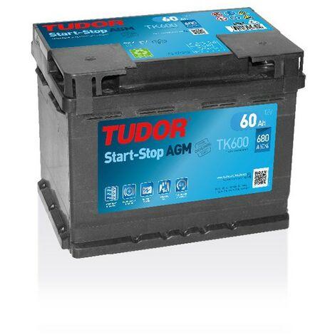Batterie Start-stop AGM TUDOR TK600 12V 60Ah 680A