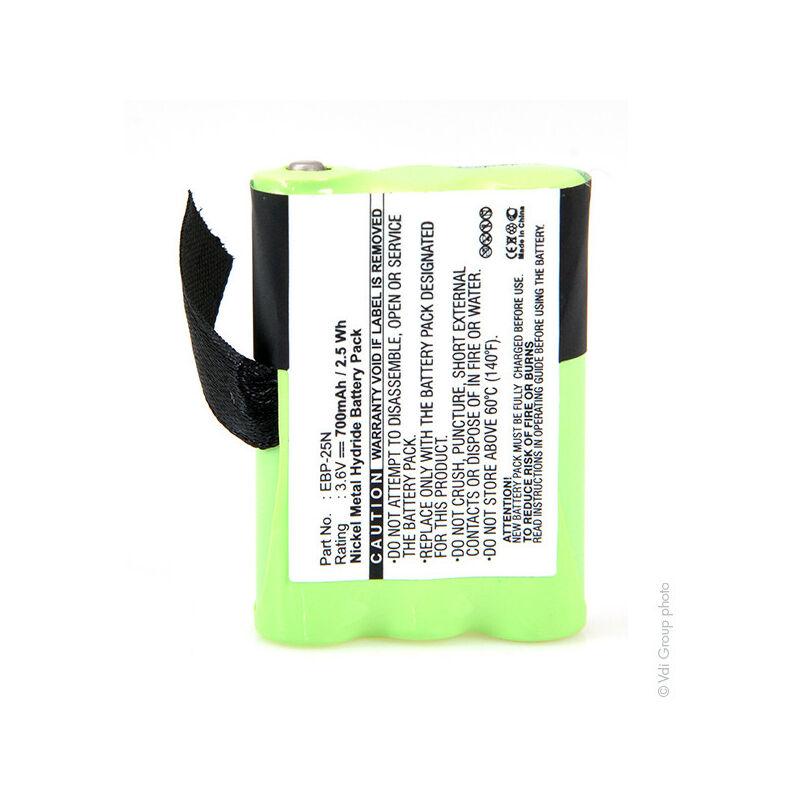 Nx ™ - NX - NX - Batterie talkie walkie ALINCO 3.6V 700mAh - EBP-25N ; EBP25N