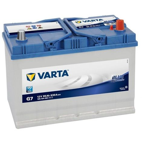 BATTERIE VARTA BLUE DYNAMIC G7 12V 95AH 830A