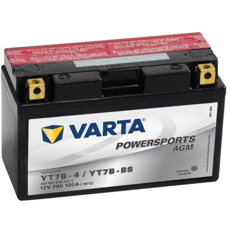 Batterie Varta Powersports AGM YT7B-4 - 12V 7Ah 120A