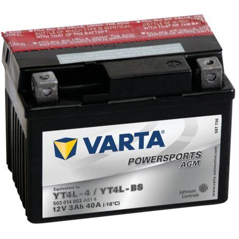 Batterie Varta Powersports AGM YTAL-4 - 12V 3Ah 40A
