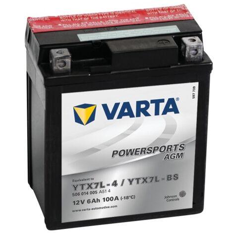 Batterie Varta Powersports AGM YTX7L-4 - 12V 6Ah 100A