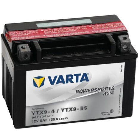 Batterie Varta Powersports AGM YTX9-4 - 12V 8Ah 135A