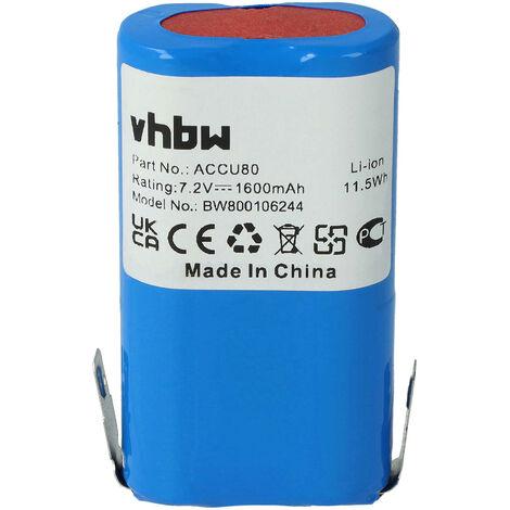 Batterie vhbw 1600mAh (7.2V) pour outils de jardin Gardena taille-haie 8824, sécateur 8803, Wolf Neo. Remplace: Accu80, 8802-00.640.00.