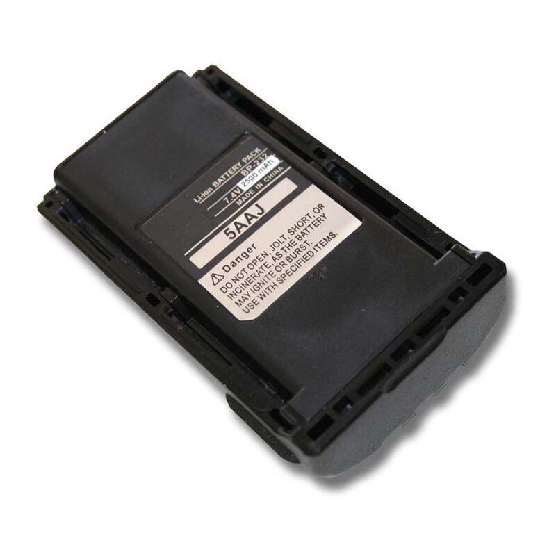vhbw batterie compatible avec Icom IC-F14, IC-F15, IC-F24, IC-F25, IC-F33, IC-F34, IC-F43, IC-F43GS radio talkie-walkie (2500mAh, 7,4V, Li-Ion)
