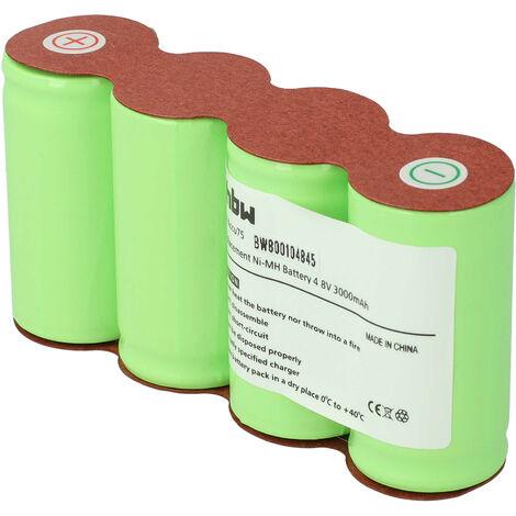 Batterie vhbw 3000mAh (4.8V) pour cisaille Gardena, ciseaux à gazon batterie 75 (8802, 8818) comme batterie 75, 8802-00.630.00.