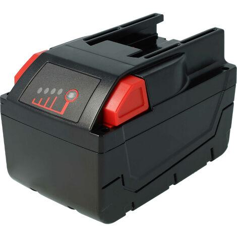 Batterie vhbw 4000mAh (28V) pour outils tels que scie circulaire Milwaukee HD28 MS etc. Remplace: 48-11-1830, 48-11-2830, 48-11-2850.