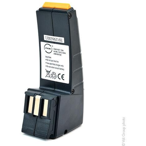 Batterie visseuse, perceuse, perforateur, ... 12V 2Ah - AMN9033 ; 486831 ; 487512 ; 487701