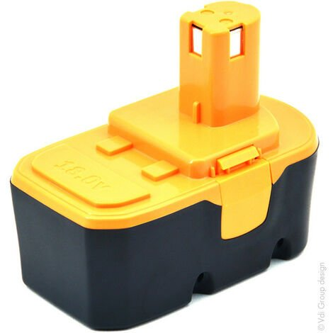 Batterie visseuse, perceuse, perforateur, ... compatible Ryobi NiMH 18V 3Ah - 130224028 ; 1