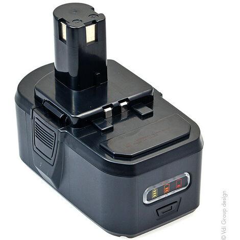 Batterie visseuse, perceuse, perforateur, ... compatible Ryobi ONE+ 18V 4Ah - BPL-1815 ; BP