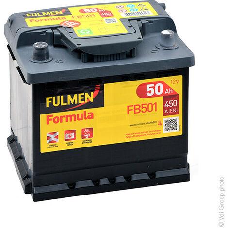 Batterie voiture FULMEN Formula FB501 12V 50Ah 450A