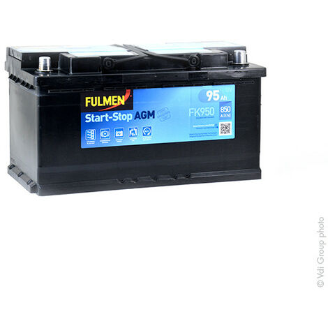 Batterie voiture FULMEN Start-Stop AGM FK950 12V 95Ah 850A