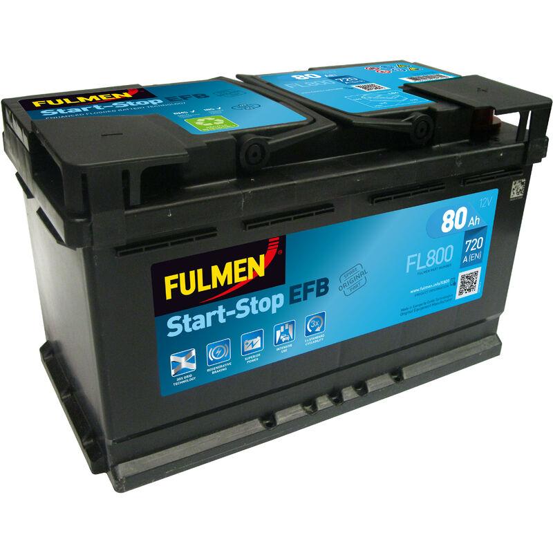 Batterie voiture Start-Stop EFB FL800 12V 80Ah 720A - Fulmen