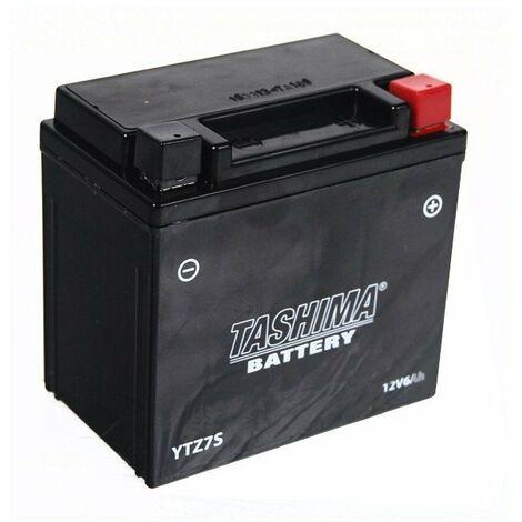 Batterie YTZ7S + à droite