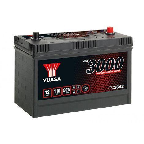 Batterie YUASA SHD YBX3642 (640SHD) 12v 110AH 925A