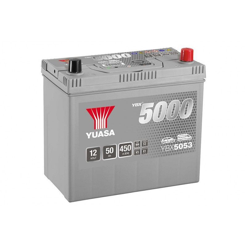 Batterie Yuasa Silver YBX5053 12v 50ah 450A Hautes performances