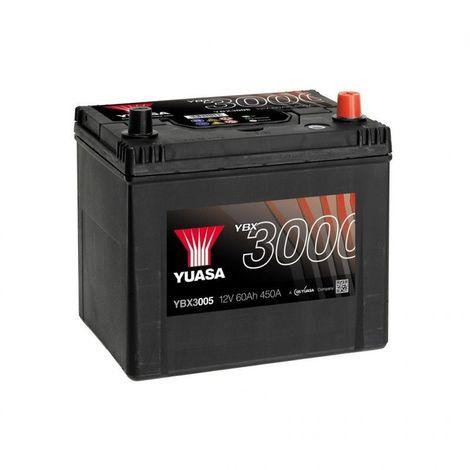 Batterie Yuasa SMF YBX3005 12V 60ah 500A