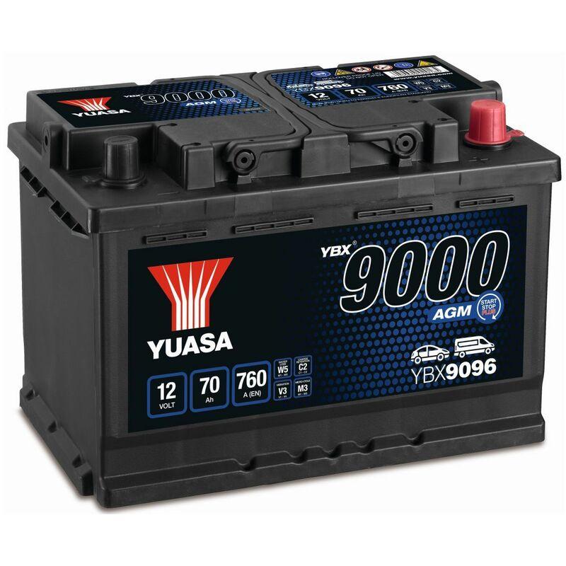 BATTERIE YBX9096 START STOP AGM 12V 70AH 760A - Yuasa