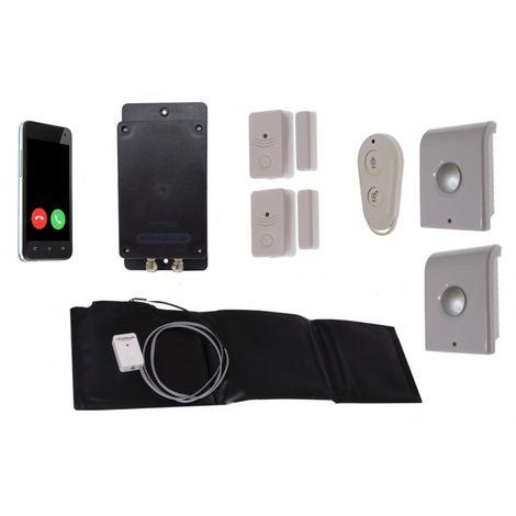 Battery 3G GSM UltraDIAL Door & Pressure Mat Alarm with Indoor Sirens