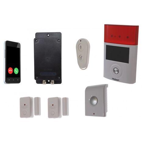 Battery 3G GSM UltraDIAL Door/Window Alarm with Indoor & Outdoor Sirens