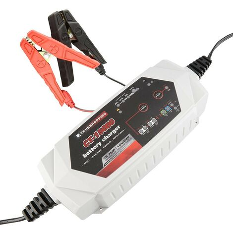 Battery Charger & Maintainer Portable Automatic 12V/24V 15 Amp Car Motorcycle