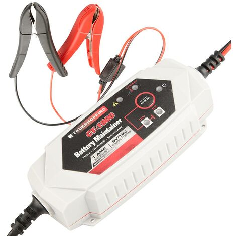 Battery Charger & Maintainer Portable Automatic 6V/12V 1 Amp Car Motorcycle