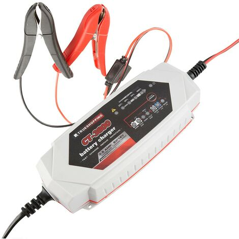 Battery Charger & Maintainer Portable Automatic 6V/12V 3.5 Amp Car Motorcycle