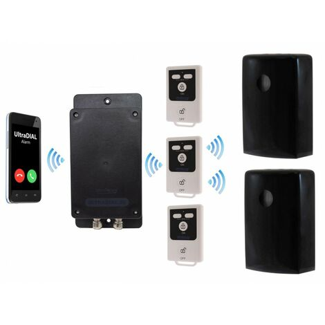 Battery Covert GSM UltraDIAL Alarm with 2 x Outdoor BT PIR's