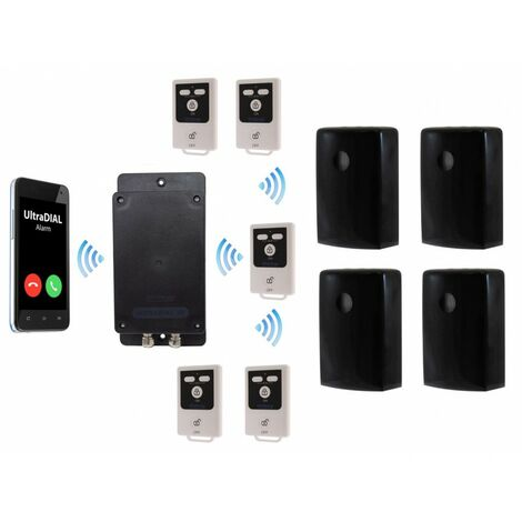 Battery Covert GSM UltraDIAL Alarm with 4 x Outdoor BT PIR's