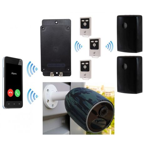 Battery GSM UltraDIAL Alarm with 2 x Outdoor BT PIR\'s & 1 x Battery 4G Camera Kit