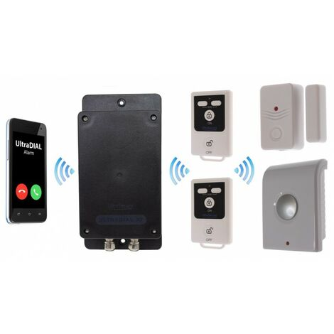 Battery GSM UltraDIAL Alarm with Door Contact & Indoor Siren