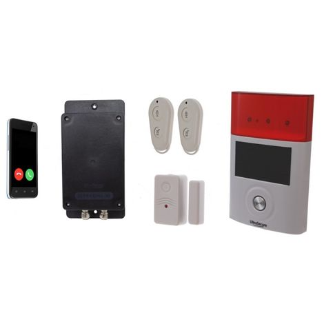 Battery GSM UltraDIAL Alarm with Door Contact & Outdoor Solar Siren