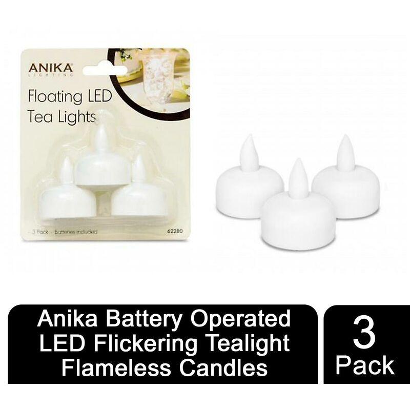 Image of Anika LED Flickering Tealights 3pk