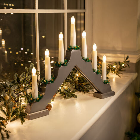 Battery Powered LED Candle Bridge Light