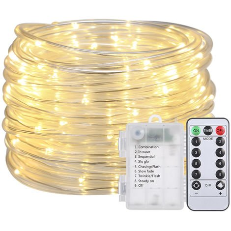 Battery-powered String Lights 12M 7.2W 120 LEDs Warm White
