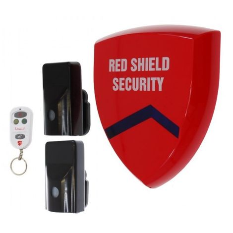 Battery Siren Wireless Alarm (smart) & 2 x External PIR's [005-3860]