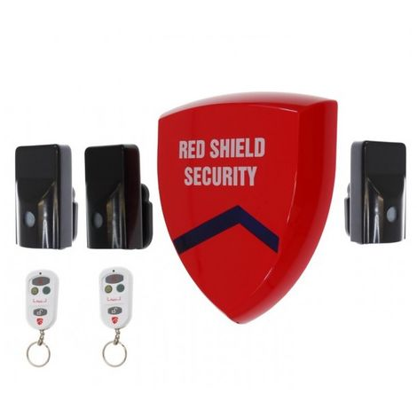 Battery Siren Wireless Alarm (smart) & 3 x External PIR's. [005-3850]