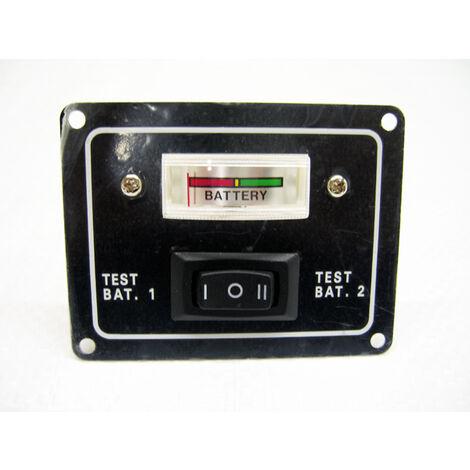 "main image of ""Battery Test Switch Panel 2 Way 12V (IP65 Water Resistant Gauge Rocker Boat)"""